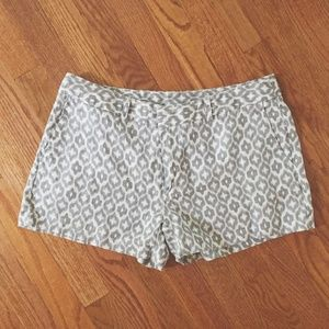 tribal / cheetah print linen shorts